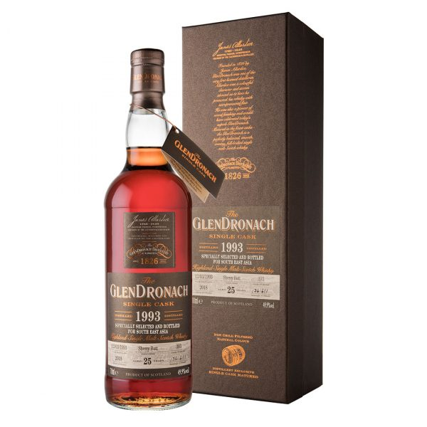 Bottle-The-GlenDronach-25-Years-1993-Cask-393-–-S.E.A.-Edition-1---Sherry