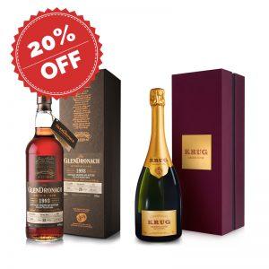 Bottle_ECommerce_Promotion - Krug Edition 166 & GlenDronach SEA 25 Years
