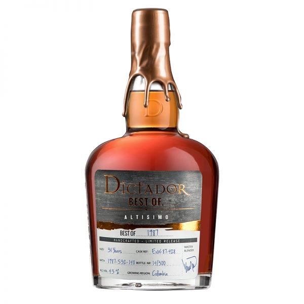 Bottle_Rum Dictador Best Of 1987 43 - Altisimo