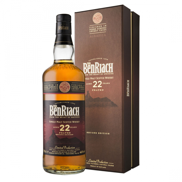 Bottle-BenRiach-Peated-Pedro-Ximenez---Albariza---Aged-22-Years---700ML